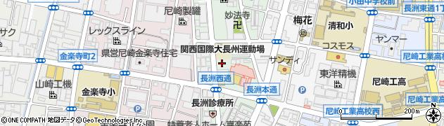 兵庫県尼崎市長洲西通周辺の地図