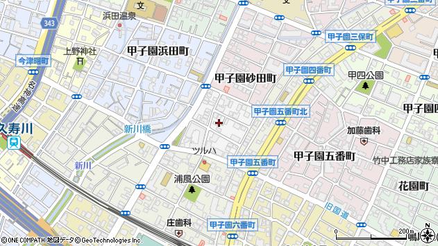 〒663-8164 兵庫県西宮市甲子園六石町の地図