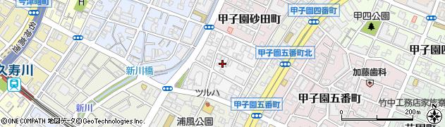 兵庫県西宮市甲子園六石町周辺の地図