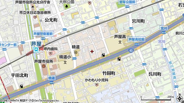 〒659-0064 兵庫県芦屋市精道町の地図