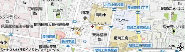 兵庫県尼崎市長洲本通1丁目周辺の地図