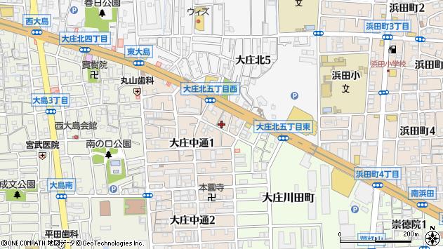〒660-0075 兵庫県尼崎市大庄中通の地図