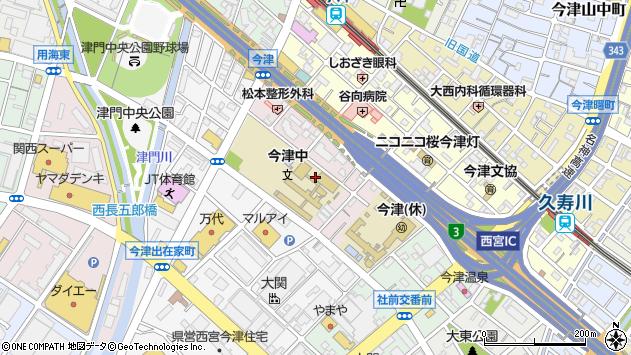 〒663-8228 兵庫県西宮市今津二葉町の地図