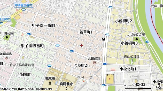〒663-8181 兵庫県西宮市若草町の地図