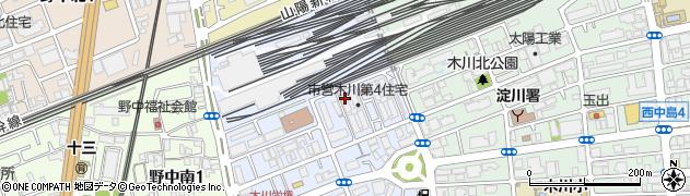 木川第四住宅周辺の地図