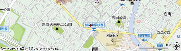 兵庫県加古川市別府町周辺の地図