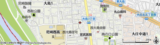兵庫県尼崎市大島周辺の地図