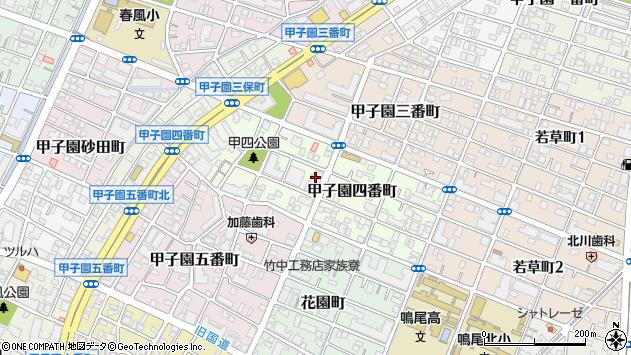 〒663-8174 兵庫県西宮市甲子園四番町の地図