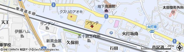 有限会社味とよ 二川フランテ館周辺の地図