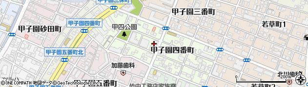 兵庫県西宮市甲子園四番町周辺の地図