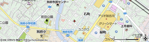 兵庫県加古川市別府町(石町)周辺の地図