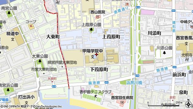 〒662-0955 兵庫県西宮市中葭原町の地図