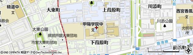 兵庫県西宮市中葭原町周辺の地図
