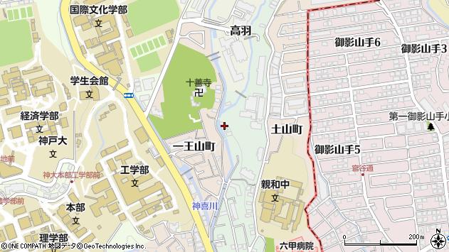 〒657-0021 兵庫県神戸市灘区桜ケ丘町の地図