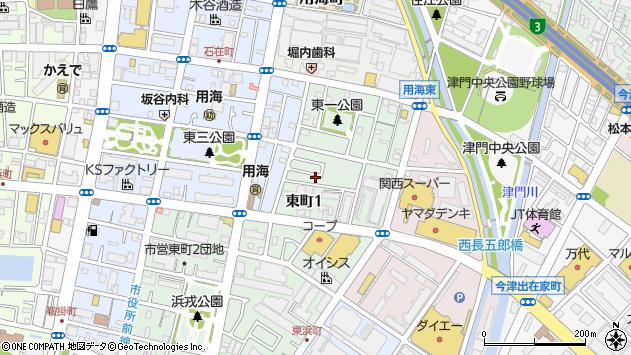 〒662-0922 兵庫県西宮市東町の地図