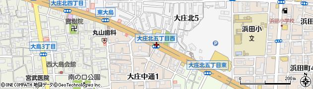 大庄北5西周辺の地図