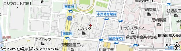 兵庫県尼崎市西長洲町1丁目周辺の地図