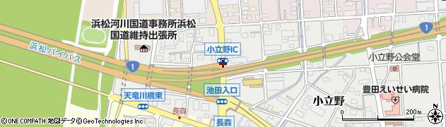 小立野IC周辺の地図
