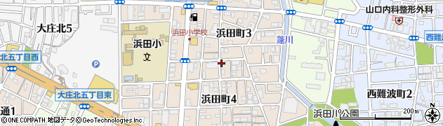 兵庫県尼崎市浜田町3丁目周辺の地図