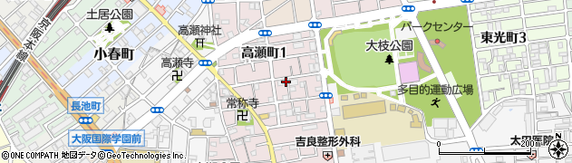 大阪府守口市高瀬町周辺の地図