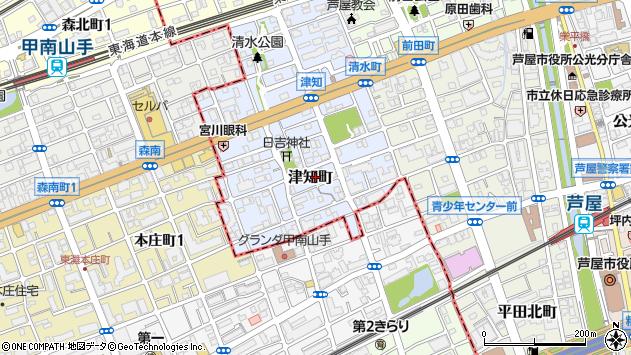 〒659-0075 兵庫県芦屋市津知町の地図