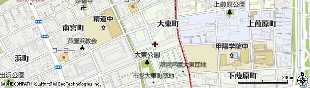 クレアコート芦屋周辺の地図
