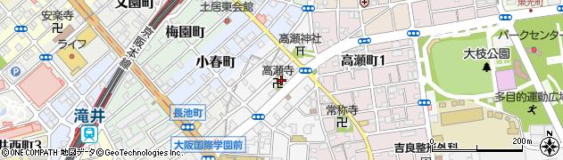 高瀬寺周辺の地図