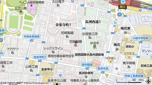 〒660-0806 兵庫県尼崎市金楽寺町の地図