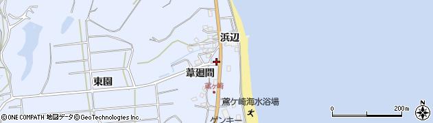 愛知県南知多町(知多郡)大井(浜辺)周辺の地図
