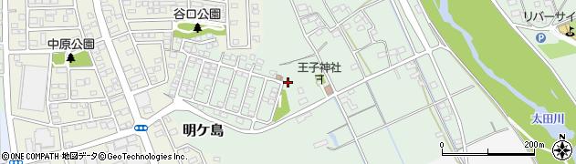 静岡県磐田市明ケ島周辺の地図