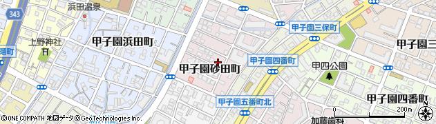 兵庫県西宮市甲子園砂田町周辺の地図