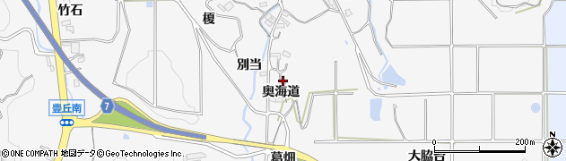 愛知県南知多町(知多郡)豊丘(奥海道)周辺の地図