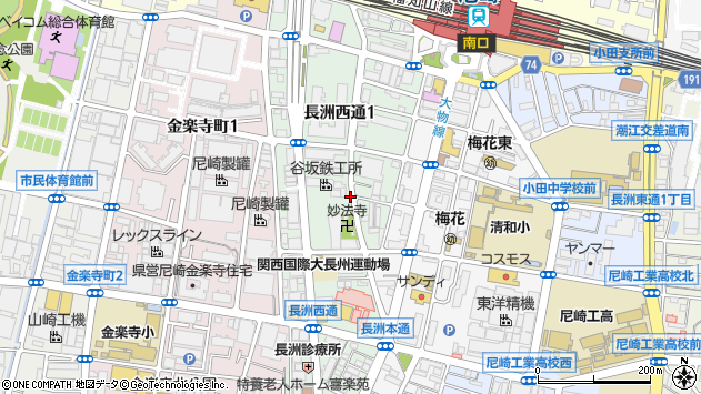 〒660-0807 兵庫県尼崎市長洲西通の地図