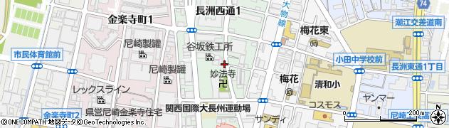 兵庫県尼崎市長洲西通1丁目周辺の地図