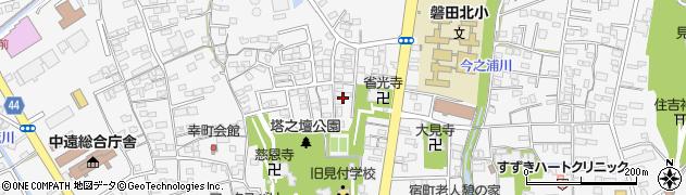 静岡県磐田市見付周辺の地図