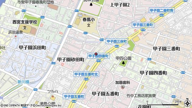 〒663-8163 兵庫県西宮市甲子園三保町の地図