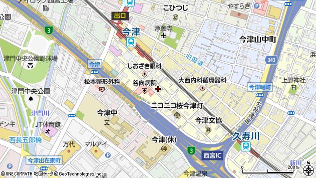 〒663-8215 兵庫県西宮市今津水波町の地図
