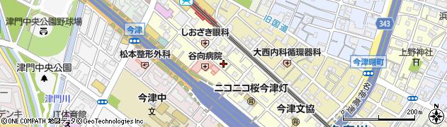 兵庫県西宮市今津水波町周辺の地図