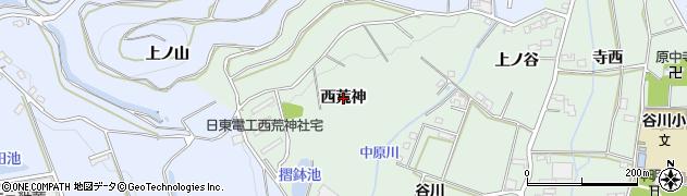 愛知県豊橋市中原町(西荒神)周辺の地図
