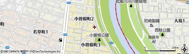 兵庫県西宮市小曽根町周辺の地図