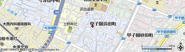 兵庫県西宮市甲子園浜田町周辺の地図