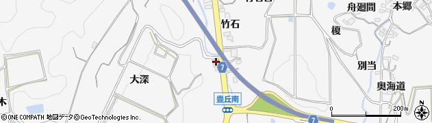 愛知県南知多町(知多郡)豊丘(大深)周辺の地図