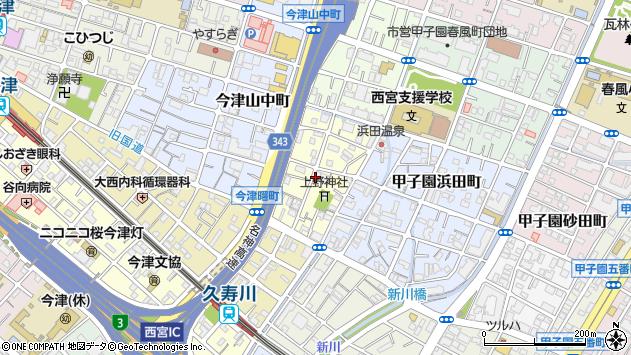 〒663-8213 兵庫県西宮市今津上野町の地図