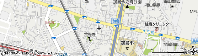 大阪府大阪市淀川区加島周辺の地図