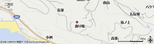 愛知県南知多町(知多郡)内海(曲り畑)周辺の地図