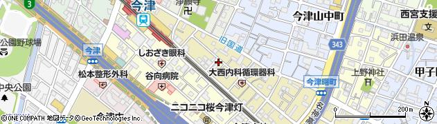 兵庫県西宮市今津曙町周辺の地図
