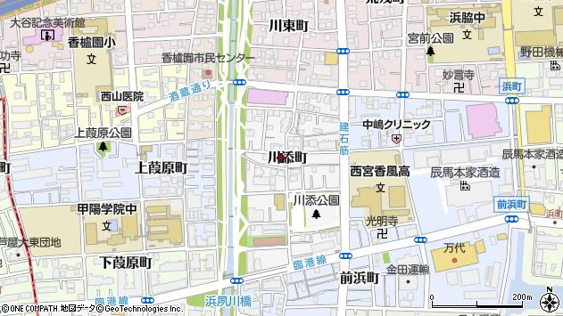 〒662-0944 兵庫県西宮市川添町の地図