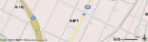 愛知県豊橋市神野新田町(水神下)周辺の地図