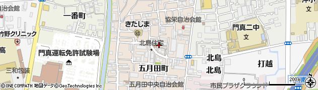 府営門真北島住宅周辺の地図