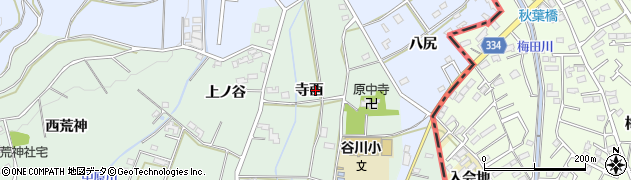 愛知県豊橋市中原町(寺西)周辺の地図